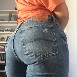 High Waisted Jeans With Patches